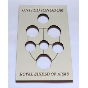 Expositor Para As Moedas Do Escudo Britanico - Branco