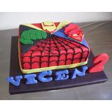 Tortas Decoradas Infantiles Superheroes Cookies Y Cupcakes