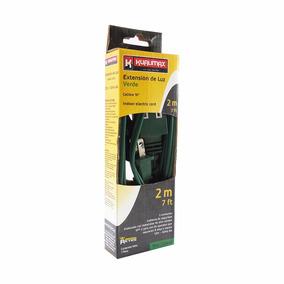 Extension Domestica 2m Verde Calibre16 3 Contactos Peldaños