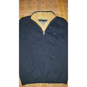 Campera Tommy Hilfiger Sweater Hombre Interior Piel Nueva