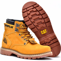Bota Coturno Caterpillar Couro Cat Steel Importado