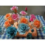 Rosas Para Tortas Con Hojas Precio Unidad