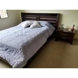 Juego De Dormitorio Full (inc. Colchón Y 2 Veladores)