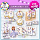 Princesa Sofia Kit Imprimible Cumpleaños Candy Texto Editabl