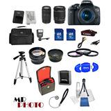 Canon Eos Rebelde T6i Cámara + Stm 18-55mm + 75-300 Mm +...