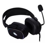Headset Gamer Oex Zyon 7.1 Surroud Rgb Preto Hs415