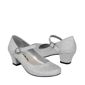 Zapatos Casuales Stylo 8000 Glitter Plata