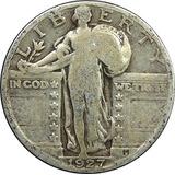 1917-1930 Ee.uu. Libertad De Pie De Plata Dólar Cuarto, Circ