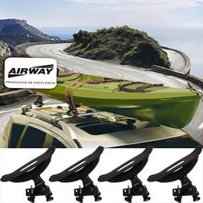 Porta Kayak 4 Piezas Airway C/cintas, Regulables Y Enganches
