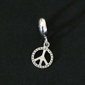 Pingente Prata 925 Paz E Amor Para Pulseira Momentos De Vida