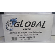 Papel Toalha Interfolha 100% Celulose 20 X 21 Pacote 5000 Un