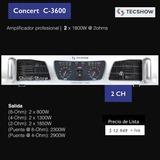 Potencia American Pro Serie Concert C3600 Con Envio Gratis