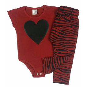 Conjunto Infantil Body Cotton E Calça Saruel Zebra