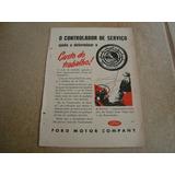 Propaganda Antiga Trator Ford 1951 F-100 F-600 V8 Galaxie 1