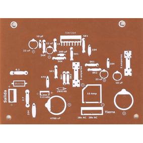 Plaqueta Circuito Impreso Amplificador 100w Tda7293 Tda7294