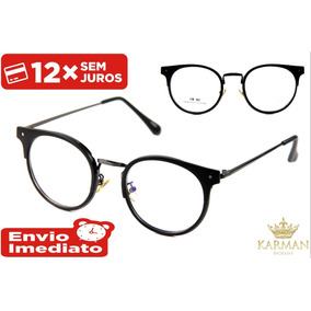 Armação Feminino Masculino Óculos P  Grau Geek Retro Fashion b0b869e9c3