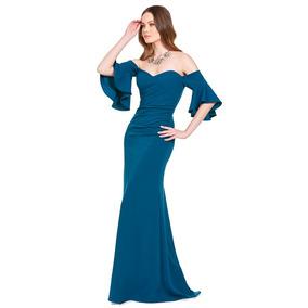 f8fbb6a66 Vestidos de noche color azul petroleo - Vestidos formales
