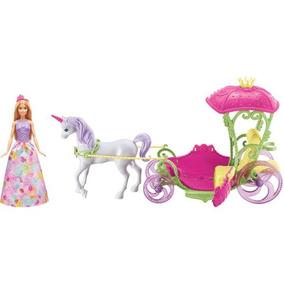 Barbie Fan Carruagem Com Princesa Mattel