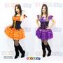 Fantasia Bruxa Super Luxo Halloween Vestido Corpete Adulto