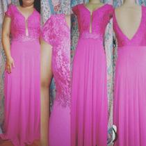 Vestido De Festa - Longo Pink
