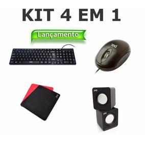 Kit Teclado Mouse Mousepad Cx De Som Distribuicao Revenda