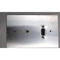 Placa De Pared Aluminio Vga Audio Conectores Tornillo