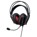 Auriculares Gaming Asus Cerberus, Negro/rojo, 100mm, Micrófo
