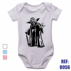 Body Para Bebe Star Wars - Bodies Manga Curta Branco de Bebê no ... 2c5eb286300