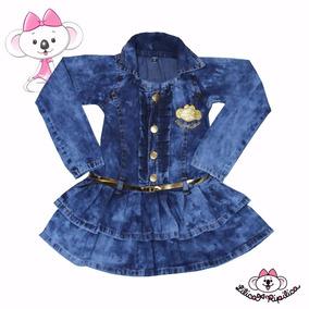 Vestido Infantil Jeans Manga Rodado Estilo Lilica Ripilica