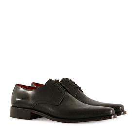 Zapatos De Cuero Negro De Vestir De Hombre Batistella