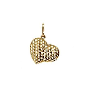 34b1fd3e1f057 Pingente Coração Ouro 18k - Cod.10071 - Cor Ouro Amarelo
