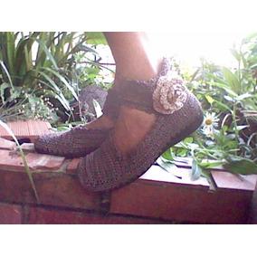 Zapatos Botas Tejidas Crochet Dama Caballero Niños