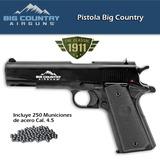 Pistola Deportiva Big Country Incl 250 Municiones 4.5 Mm