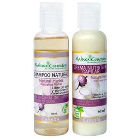 Shampoo + Crema Nutritiva Natural Anti Caida De Cebolla 60ml