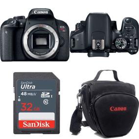 Câmera Canon Eos Rebel T7i Corpo Mb32 Bolsa
