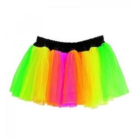 Tutu Rainbow Falda De Tul Colores Para Fiestas