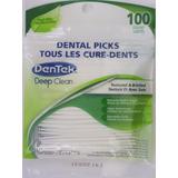 Palito Dente Dentek C/100 Menta Texturizado Importado U S A