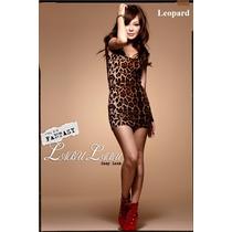 Vestido Leopardo Oncinha Balada Festa Importado No Brasil