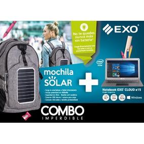 Combo Notebook + Mochila Solar Exo Imperdible