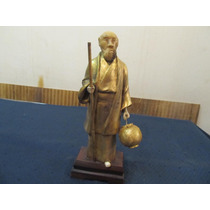 Figura China En Bronce Y Material Noble Crisaelefantino