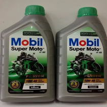 Óleo Lubrificante Mobil 10w40 Super Moto 4t Api Sl Kit C/2