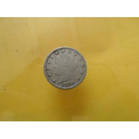 Moneda Antigua 5 Centavos 1900 E,u. Envio Rapido Gratis