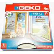Burlete Puerta/ventana Perfil P Geko Blanco 2 A 5mm X 6m