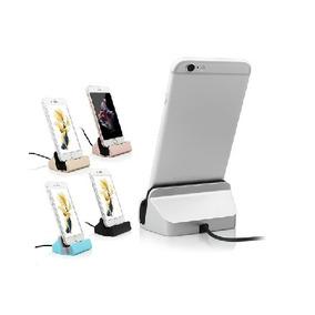 Carregador De Mesa Dock Charger Iphone+cabo 5,5c,5s,6, 6s,8