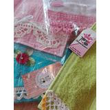 Toallas De Manos Con Puntillas Tejidas Al Crochet