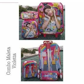 Maletas 5d Para Niñas Violetta Minnie Frozen Y Barbie