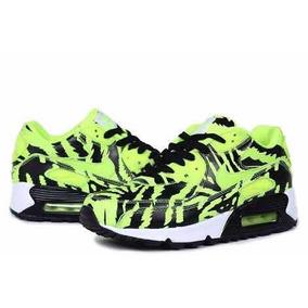 Tenis Nike Air Max 90 Tiger Skin Green Con Envío Gratis