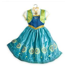 Disfraz Princesa Anna Frozen Fever Disney Store Talle 7-8