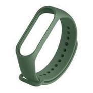Pulseira Extra Silicone Verde Militar Smartband M3 / M4