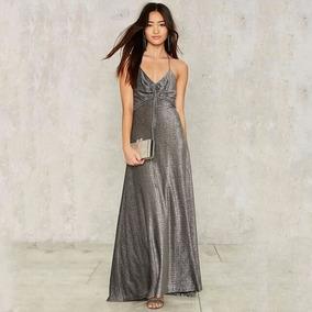 Vestidos de noche color gris perla